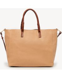 Sole Society Mallory Tote Vegan Leather Tote - Brown