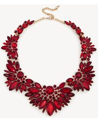 Sole Society - Floral Cluster Necklace - Lyst