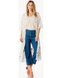 Sole Society - Floral Embroidery Duster - Lyst