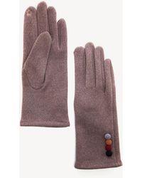 Sole Society Soft Gloves W/ Button Detail - Purple