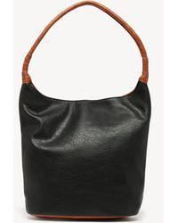 Sole Society Mallory Hobo Vegan Leather Hobo - Black