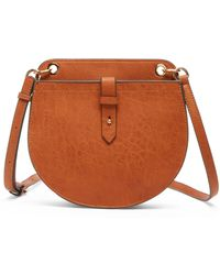 Sole Society Nylah Crossbody Faux Leather Crossbody - Brown