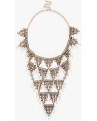 Sole Society - Pearl Necklace Bib - Lyst