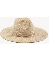 Sole Society - Straw Sunhat With Floral Embroidery - Lyst