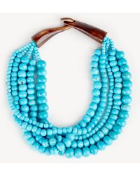 Sole Society - Beaded Statement Necklace - Lyst