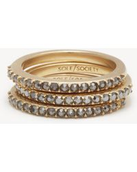Sole Society - Pave Ring Set - Lyst