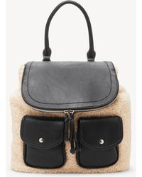 Sole Society - Drury Backpack Sherpa Mix Backpack - Lyst