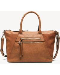 Sole Society - Chele Tote Genuine Suede Mix Tote - Lyst