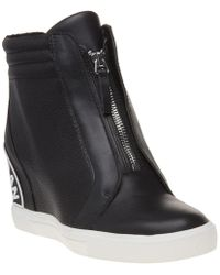 DKNY - Connie Slip On Wedge Trainers - Lyst