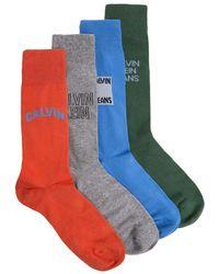 Calvin Klein - 4 Pack Logo Socks - Lyst