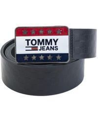 Tommy Hilfiger - Star Plaque Check Belt - Lyst
