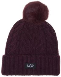 Hot UGG - Cable Pom Beanie - Lyst 08735efdc