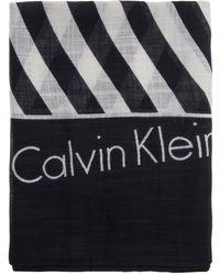 Calvin Klein - Square Logo Scarf - Lyst