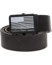 Calvin Klein | Flag Plaque Belt | Lyst