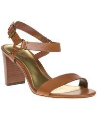 1df81f88571 Ralph Lauren Harri Vachetta Leather Sandal in Brown - Lyst