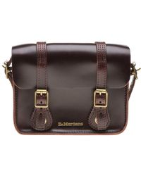 Dr. Martens - Dr. Martens Charro Brown Brando Leather Satchel -7-inch - Lyst