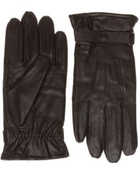 Barbour | Burnished Leather Gloves | Lyst