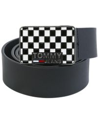 Tommy Hilfiger - Plaque Check Belt - Lyst