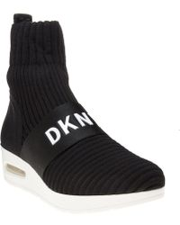 DKNY - Anna Slip On Wedge Trainers - Lyst