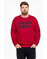 S.oliver - Sweatshirt mit Label-Applikation - Lyst