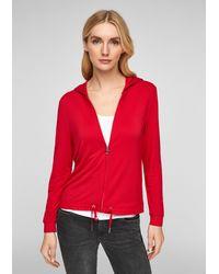 S.oliver Leichte Kapuzen-Jacke - Rot