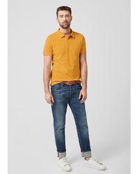 S.oliver Poloshirt aus Baumwollpiqué - Gelb