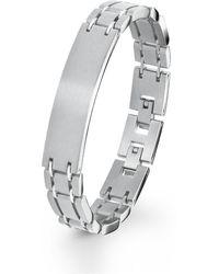 S.oliver ID-Armband Edelstahl - Mettallic