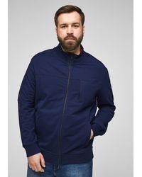 S.oliver Zipper-Jacke aus Jersey - Blau