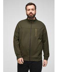 S.oliver Zipper-Jacke aus Jersey - Grün
