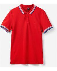 S.oliver Poloshirt aus Baumwollpiqué - Rot