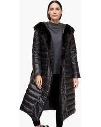 S.oliver - Puffer Coat mit Webpelz-Besatz - Lyst