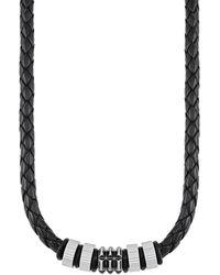 S.oliver Ledercollier mit Edelstahl-Beads - Mettallic