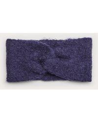 S.oliver Stirnband mit Knoten-Detail - Blau