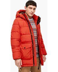 S.oliver Puffer Jacket mit Fleece-Futter - Rot