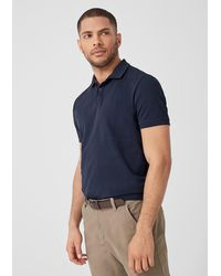 S.oliver Poloshirt aus Baumwollpiqué - Blau