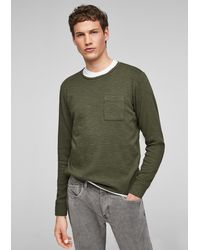 S.oliver Langarmshirt mit Brusttasche - Grün