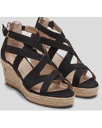 S.oliver Riemchen-Sandaletten mit Keilabsatz - Schwarz