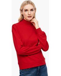 S.oliver Sweatshirt mit Turtleneck - Rot