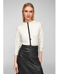 S.oliver - Jerseyshirt mit Kontrast-Streifen - Lyst