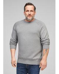 S.oliver Pullover mit Rundhalsausschnitt - Grau