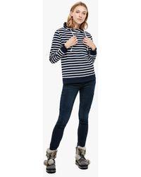 S.oliver - Geringeltes Turtleneck-Sweatshirt - Lyst