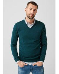 S.oliver Pullover mit V-Ausschnitt - Blau