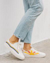 Soludos Rainbow Wave Sneakers - White
