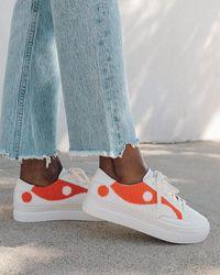 Soludos Yin Yang Platform Sneaker - White