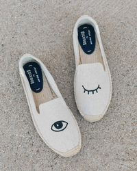 Soludos - Wink Embroidery Smoking Slipper - Lyst