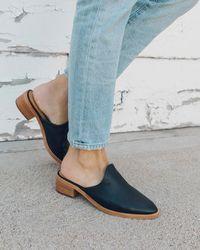 Soludos Leather Venetian Mule - Blue
