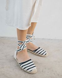 Soludos Classic Striped Sandal - Natural
