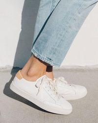 Soludos Ibiza Classic Leather Trainer - White