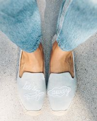 Soludos Let's Fly Away Smoking Slipper - Blue