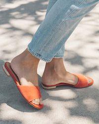 Soludos Anouk Slide Sandal - Blue